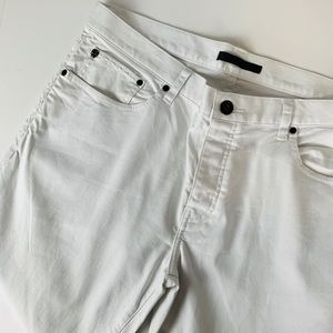 John varvatos white denim jeans